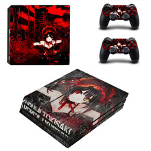 Lovely Sexy Girl Kurumi Tokisaki PS4 Pro Skin Sticker For Sony Playstation 4 Promotion Console & 2Pcs Controller Film Stickers