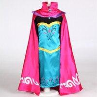 2 15T New Elsa Girl Dress Queen Coronation Dress Cartoon Movie Cosplay Costume Baby Kids Vestido