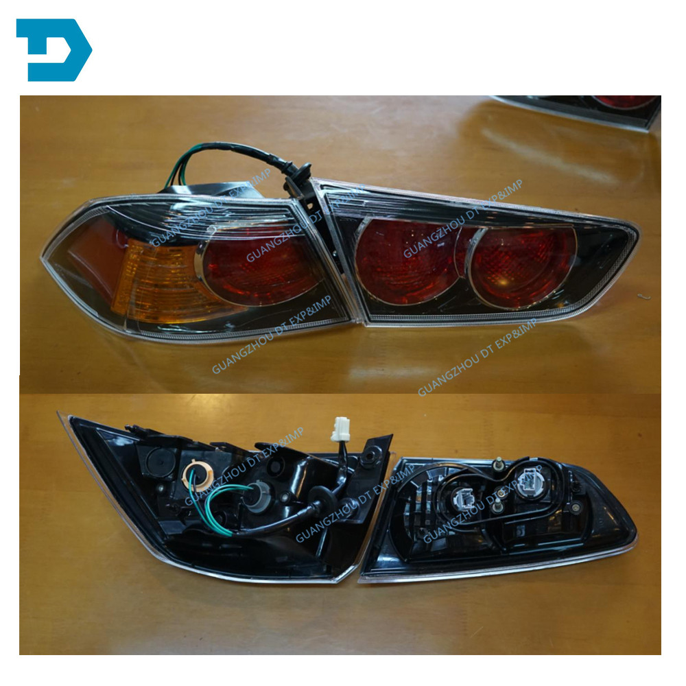 Without bulbs EVO tail lamp halogen version for lancer black stop lamp for mitsubishi lancer rear lamp black version tail lamp in Decorative Lamp from Automobiles Motorcycles