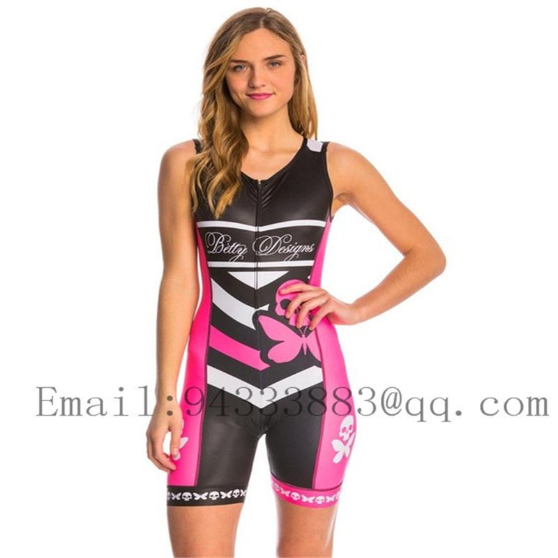 Betty cycling skinsuit triathlon suit sleeveless women sexy swimwear bike sports team running tight swimsuit ropa ciclismo mujer