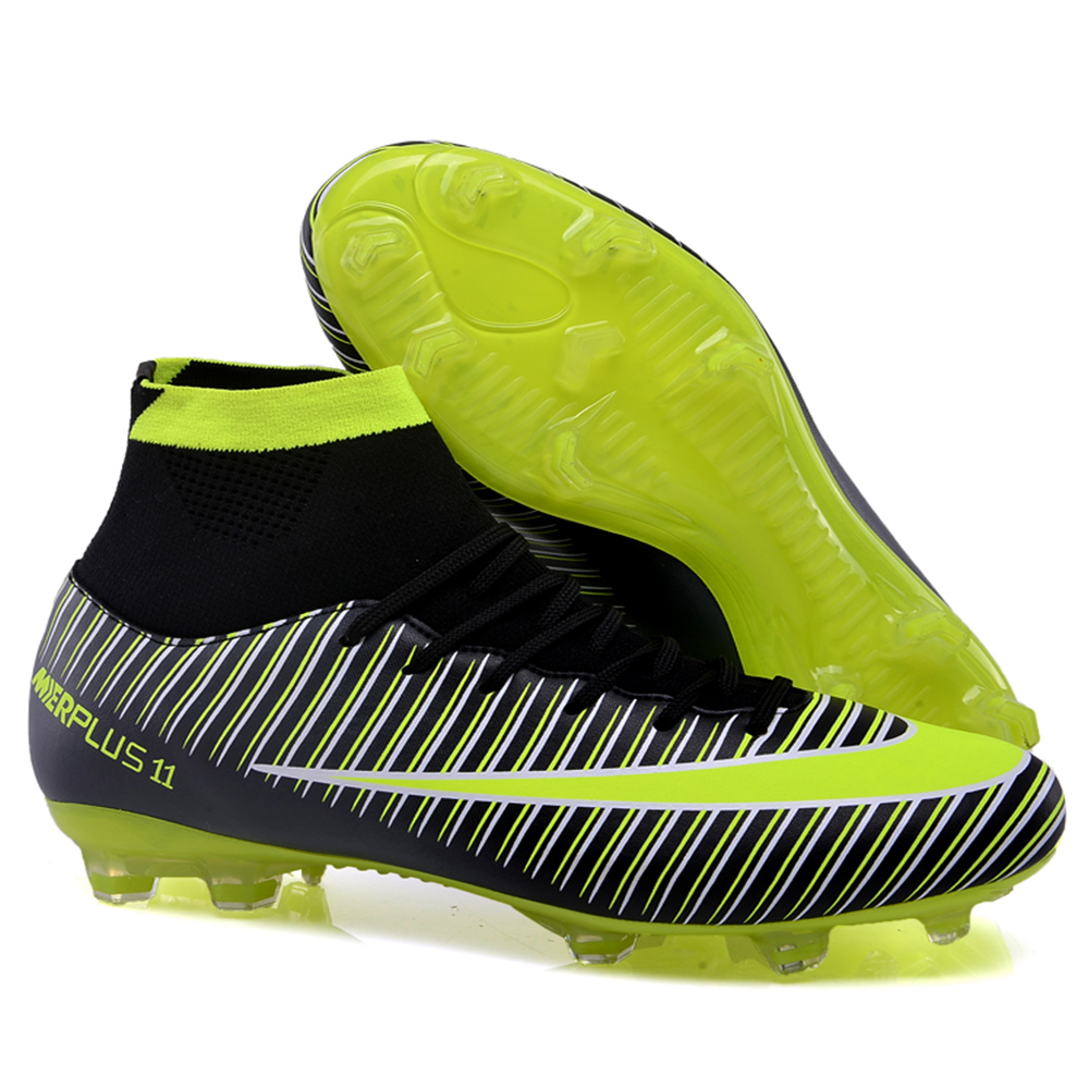High Ankle Football Boots Superfly V 5 Original Soccer Shoes Men CR7 Cleats  FG Chuteira Futebol Profissional Scarpe Da Calcio-in Soccer Shoes from  Sports ... eee799f5474a