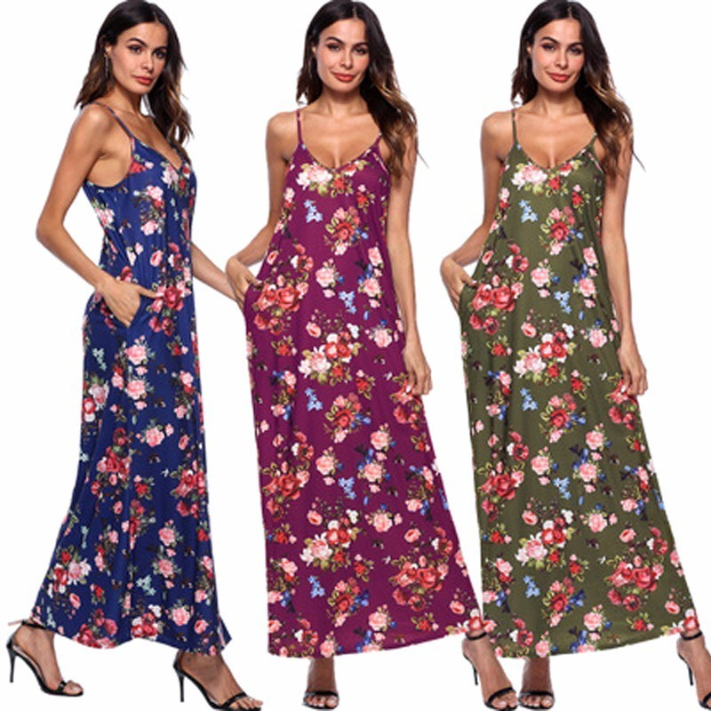 ede3f12e18744 2018 Sexy New Summer Maternity Dresses Long Bohemian Dress Clothes ...