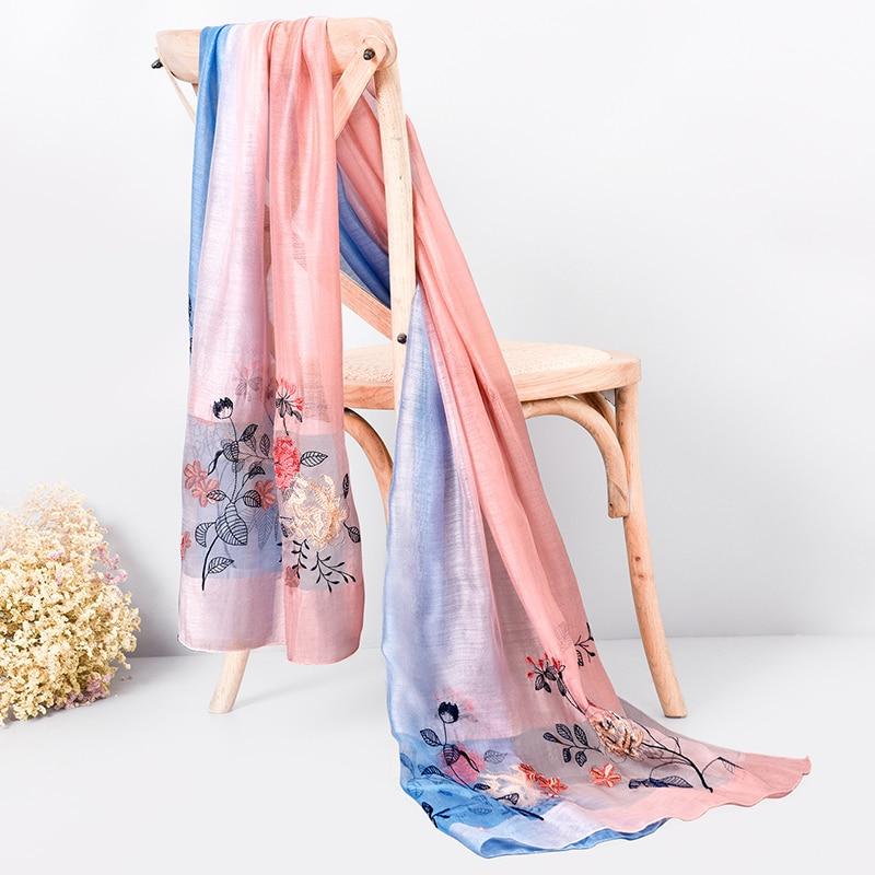 Жібек жүнінен жасалған шарф 2019 сәнді - Киімге арналған аксессуарлар - фото 2