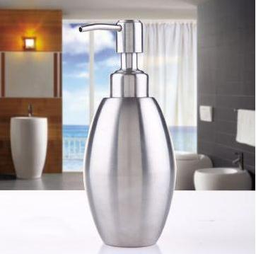 350ml Stainless steel soap dispenser Empty lotion bottles pump foam scrub Free shipping