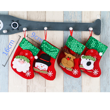 1Pcs Cute Stockings For Home Party Christmas Tree Holders Room Store Shop Festival Santa Claus Toppers Decoration Kids Gift