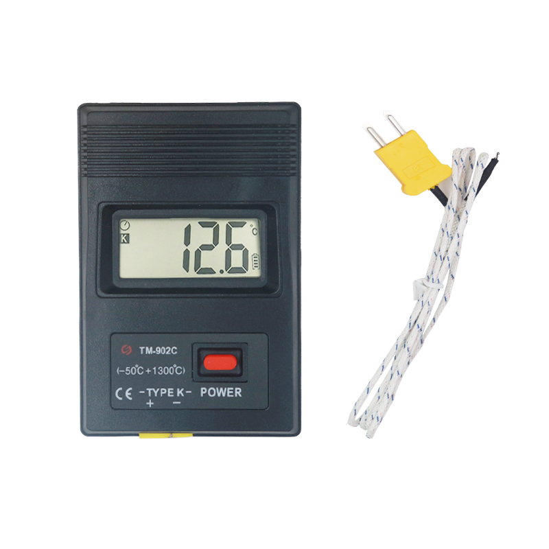 TM902C digital K type Thermometer tester temperature meter Thermocouple Needle Probe -50C to1300C 30%off k j type single channel thermometer temperature meter tester gauge tm 80n