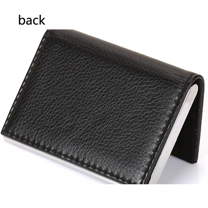 Itapkris Man Business Card Holder PU Leather Bank Credit Card Case For Women Travel Aluminum Black RFID Wallet Porte Carte