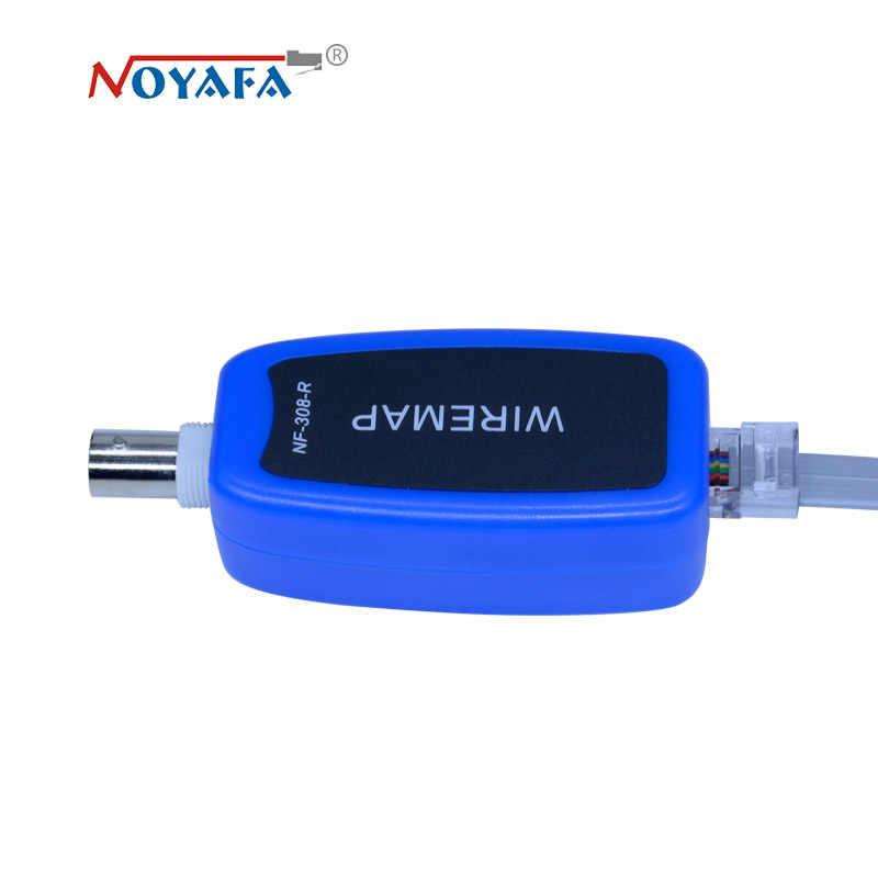 Monitorización de red cable tester LCD NF-308 de localizador de fallos de red LAN Coacial BNC USB RJ45 RJ11 color azul NF_308