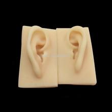 2 قطعة اكسسوارات العلوم الطبية الإنسان لينة سيليكون الأذن نموذج الحياة حجم الوخز بالإبر دراسة ممارسة أداة 1:1 بالحجم الطبيعي