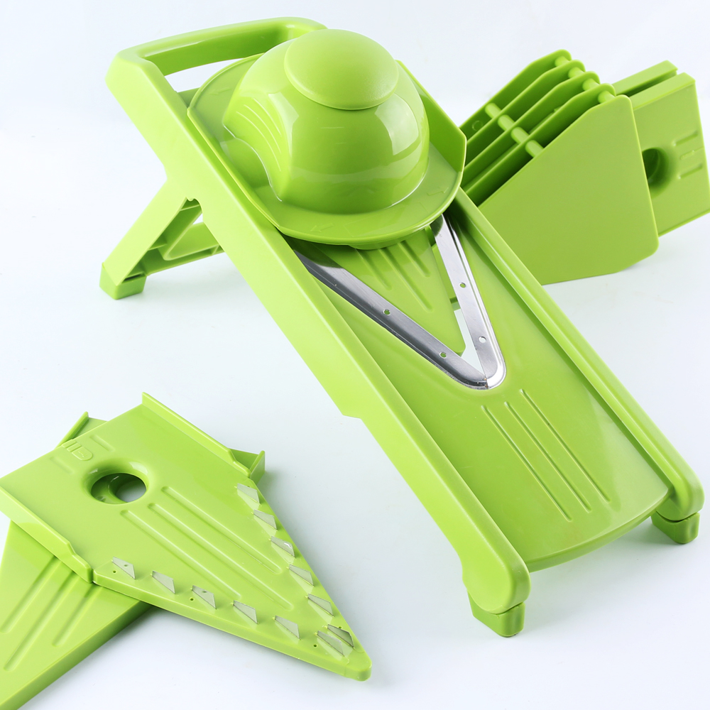 LEKOCH V-Type Mandoline Slicer Vegetable Grater Fruit Cutter 5 Interchangable Blade Kitchen Tool Plastic Grater