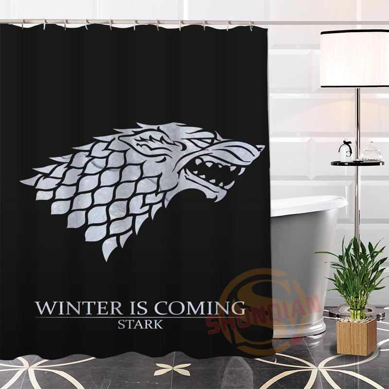 Popular Eco-friendly Custom Unique Game of Thrones#2 Fabric Modern Shower Curtain bathroom With Hooks for yourself H0220-119