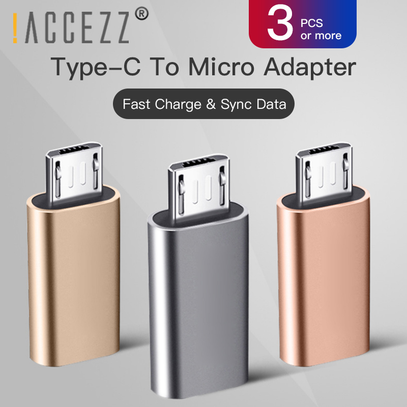 !ACCEZZ Micro USB Male To Type-C Female OTG Adapter For Xiaomi Redmi 4X Samsung Galaxy S6 S7 Huawei Micro USB Android Converter