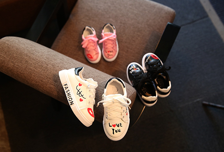 COZULMA Children Sneakers Girls Boys Casual Shoes Sport Shoes Baby Boys Shoes Kids Letters Lace-Up Running Shoes Sneakers 2