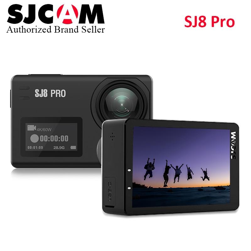 Original SJCAM SJ8 Pro 4K 60fps Sports Camera Waterproof Anti-Shake Dual Touch Screen WiFi Action Camera Full Set mgcool explorer 3 4k sports camera touch screen