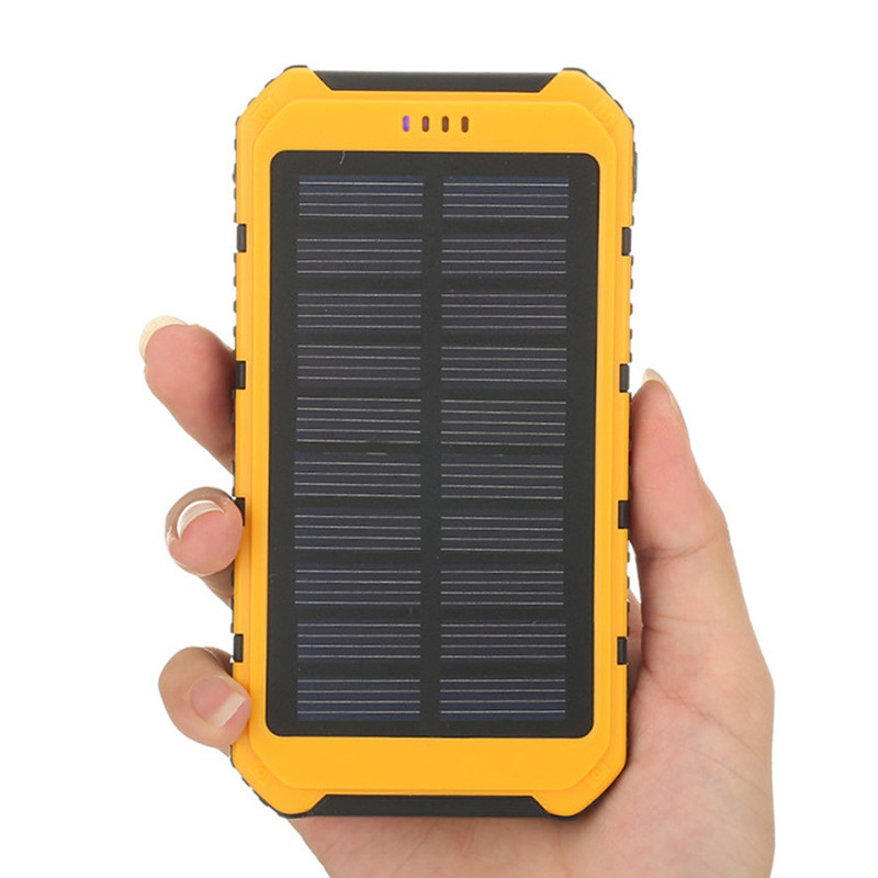 2018 New <font><b>Solar</b></font> Panel Power Bank <font><b>5000mah</b></font> <font><b>Solar</b></font> Powerbank Extreme MobilePhone Battery case <font><b>Charger</b></font> Pack Dual USB LED For Cellphone