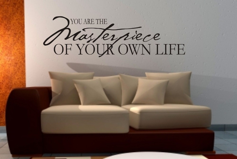 You Are The Masterpiece Wall Art Sticker Quote Living Room Bedroom Decals 3 Sizes