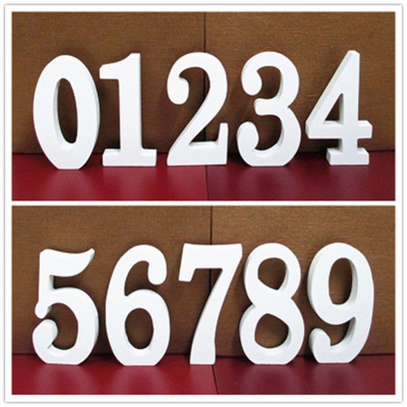 EACH PARTY White 0-9 Mood Numbers wooden letters Home Decorations Birthday Party Wedding Decorations Baby Shower Learn Kids toys