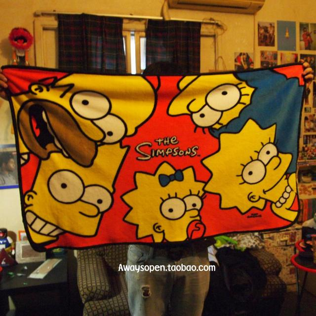 free shipping 120x75cm the simpsons homer simpson bart simpson
