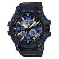 Tezer 90001 Fitness Casual Watch Men G Style 30M Waterproof Sports Military Watches Shock  Digital Quartz смарт часы