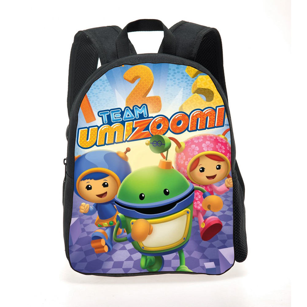 New Fashion Cartoon Backpack Children Student Team Umizoomi Schoolbag Boys Girls Travel Bag Mochila Kids School Daily Backpacks