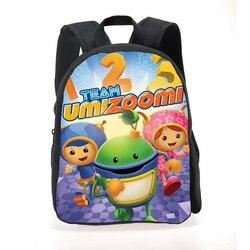 Nowe mody Cartoon plecak dzieci Student Team Umizoomi tornister chłopcy dziewczęca torba podróżna Mochila Kids School plecaki na co dzień