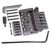 6 String Roller Tremolo Headless Bridge Tailpiece Lock Nut Mount Screws Allen Wrenches for Headless Guitar Musical Instrument