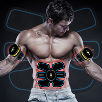 EMS rechargeable abs stimulator muscle trainer smart abdominal fitness tens machine electric muscle exerciser training massager