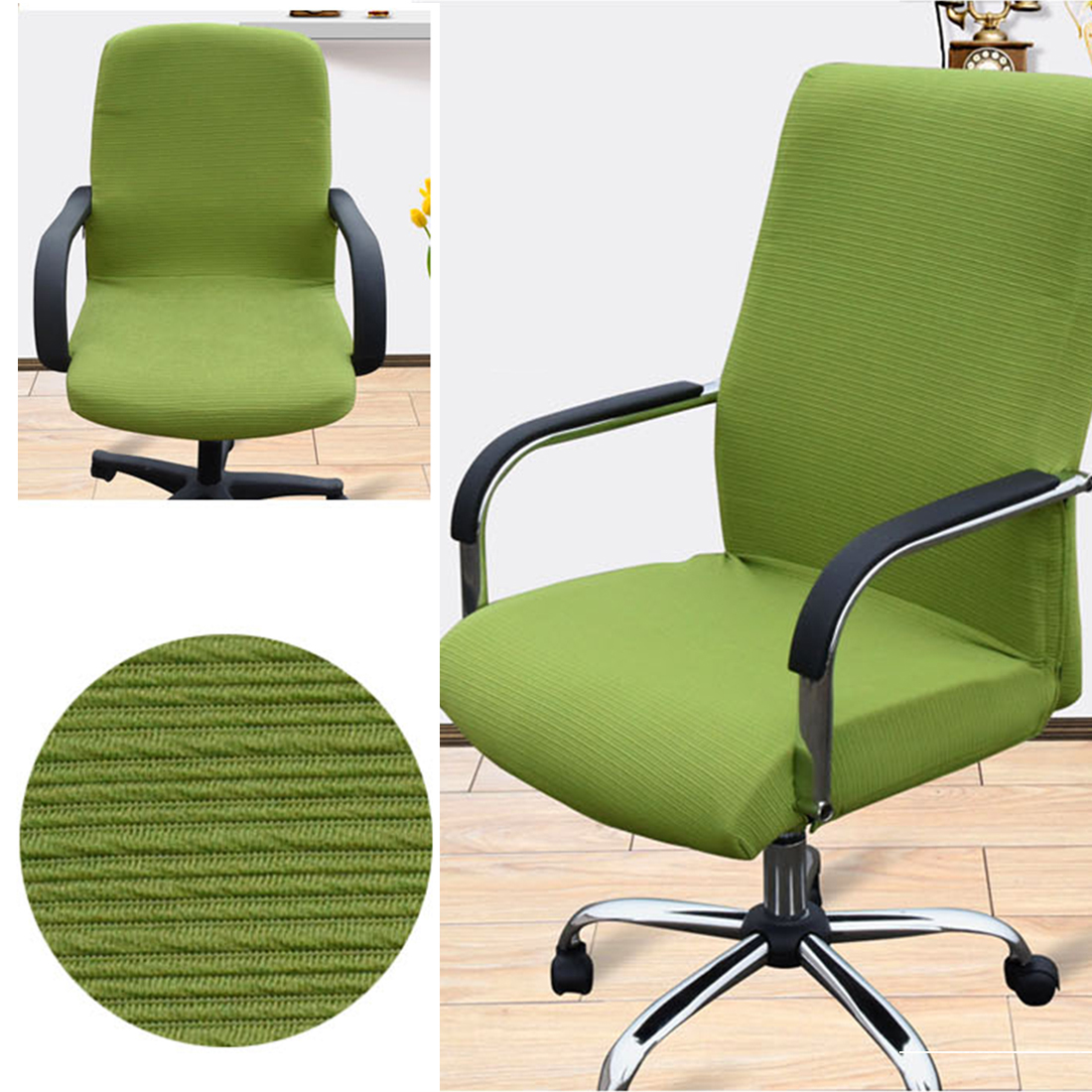 Office Chair Comfortable Seat Slipcovers Computer Chair Covers L/M/S ...