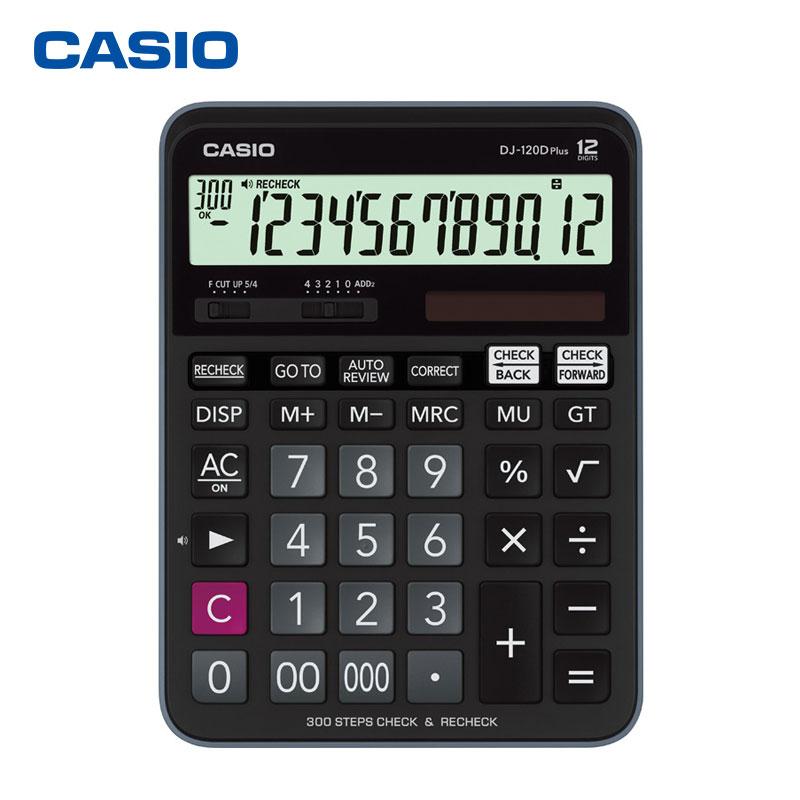 Casio DJ 120TG Upgraded DJ 120DPLUS Office Calculator Financial Accounting Multifunctional Solar Energy