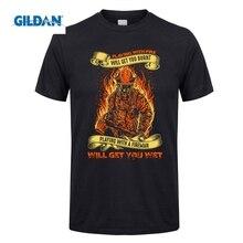 Возьмите футболка пожарный играет с огнем получите вы сожгли мужской  Футболки для девочек натуральный короткий рукав 2eaa3588aaa