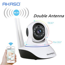 Double antenna wireless wifi ip camera 720p wi-fi cctv home security camera surveillance onvif baby monitor for GSM alarm system