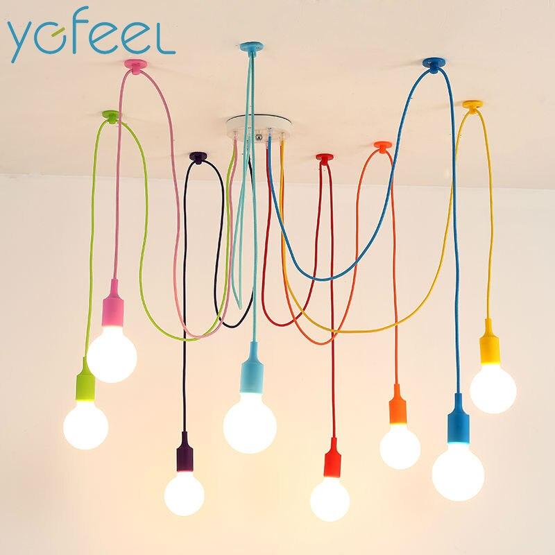 [YGFEEL] Moderne Coloré Pendentif Lumières Salle à manger Salon Pendentif Lampe Lampe De Décoration D'intérieur de silice gel 4/ 6/8/10/12 têtes
