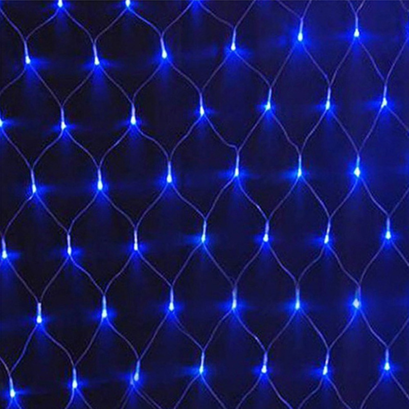 LED Net Christmas Lights 1.5M X1.5M 96 LEDS 4 Colours To Choose AC 220V EU Plug Waterproof Xmas LED Net Mesh Lights