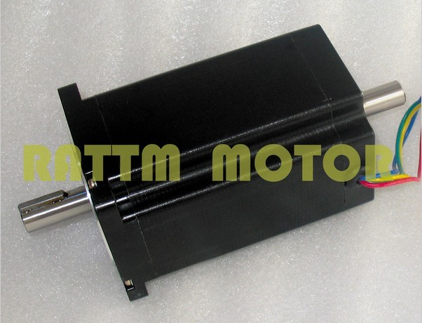 ФОТО Quality (Dual shaft)NEMA34 154mm/1600 Oz-in/5.0A CNC stepper motor stepping motor