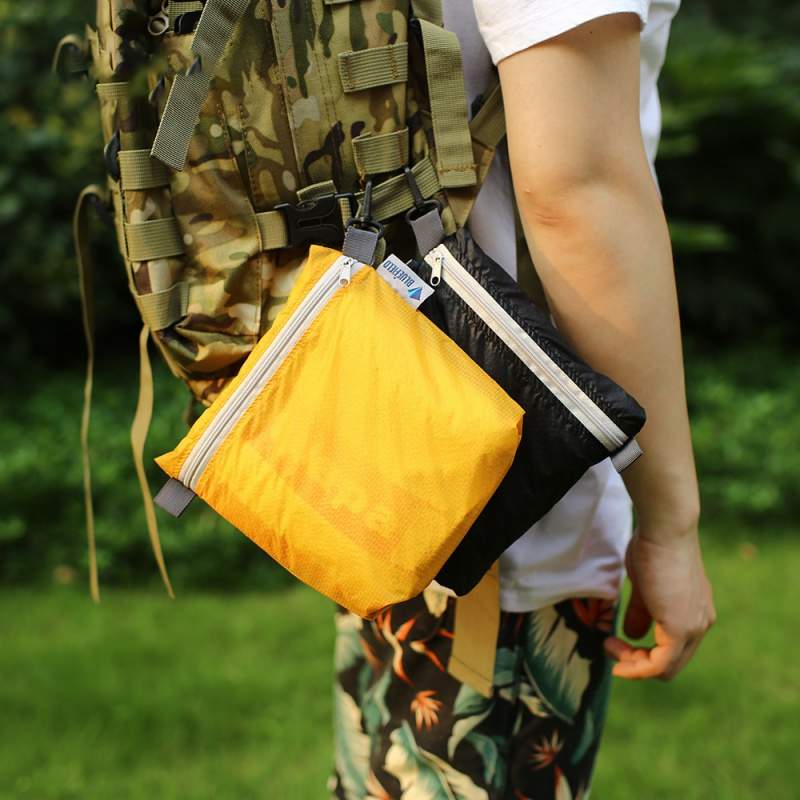 Outdoor Waterproof Bag With Hook Zipper Storage Bag Pocket Pouch 4 Colors Bag  For Camping Hiking Drift Diving Swimming Bag