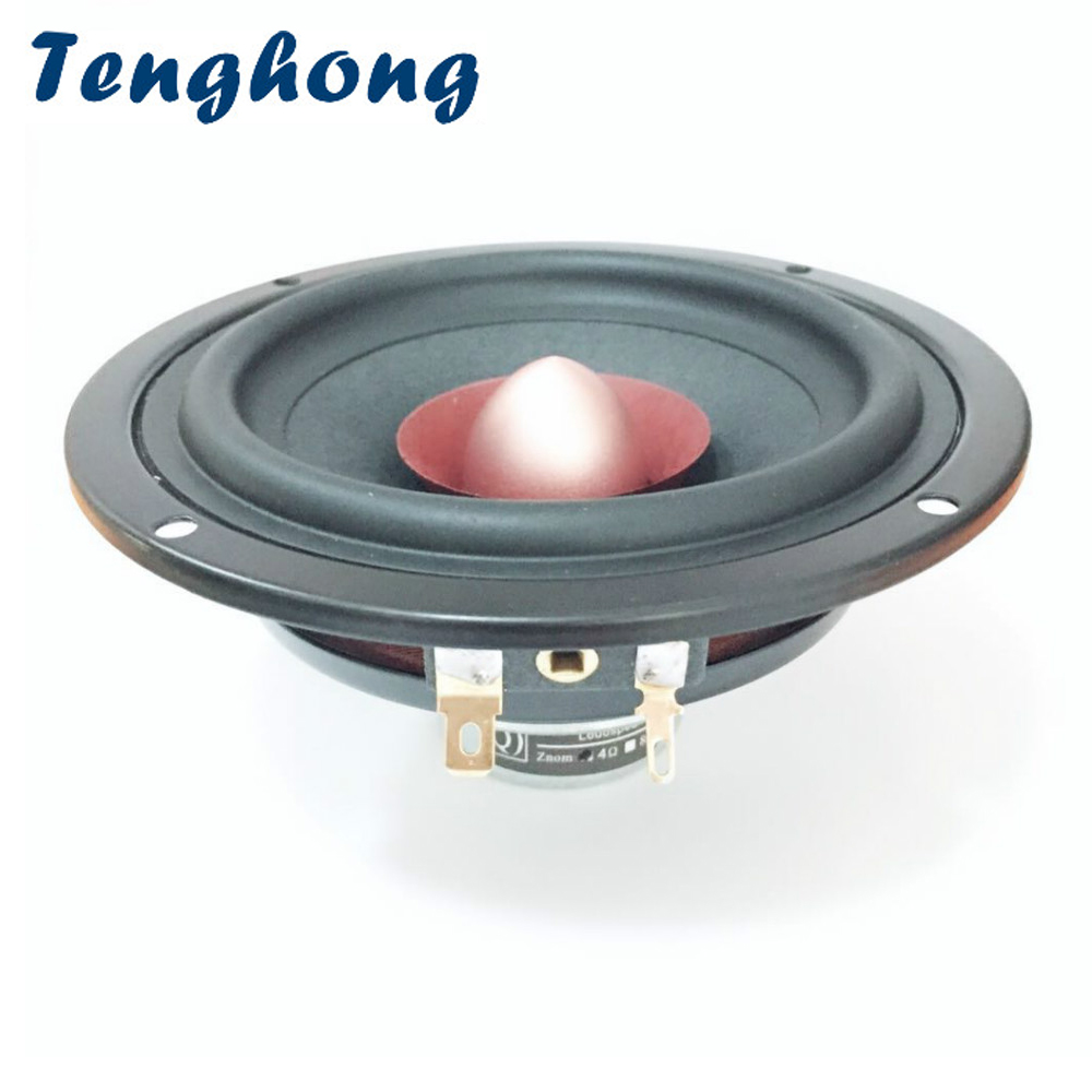 Tenghong 1 шт. 4 дюймовые портативные аудиоколонки 4/8 Ом 25 Вт полный диапазон высоких частот средних басов колонки для домашнего кинотеатра музыкальные Полочные АС    АлиЭкспресс