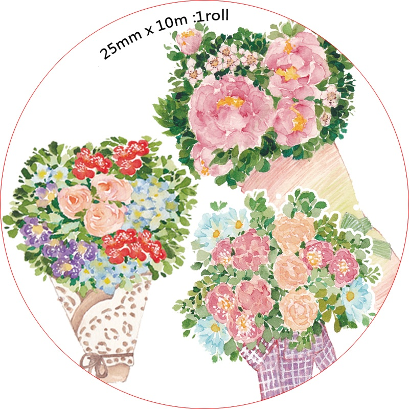 Spring Color Flowers Washi Tape Kawaii Scrapbooking Tools Masking Tape Photo Album Diy Decorative Tapes