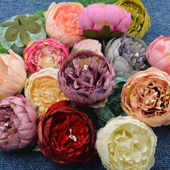 1 sztuk 9 cm piwonia sztuczny kwiat pręciki na ślub dekoracje do domu na imprezę ślub buty akcesoria kapelusze sztuczne kwiaty tanie i dobre opinie Jedwabiu Ślub Big Peony NoEnName_Null Kwiat Głowy 17 colors Decorative Flowers Wreaths Peony