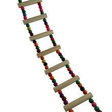Гибкая забавная деревянная Мышь Крыса лестница для хомяка ползающий мост игрушки для домашних животных попугай птица стоячие качели игрушки