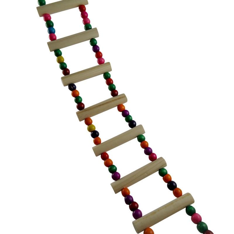 diversin flexible de madera rata ratn hamster ladder juguetes puente mascota pjaro del loro de