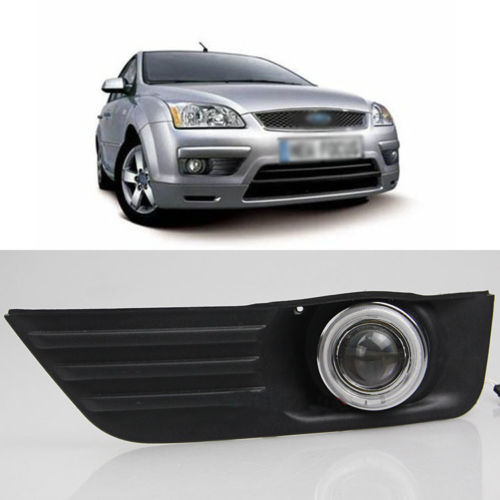 Ownsun Innovative Super COB Fog Light Angel Eye Bumper Projector Lens for Ford Focus ownsun new style tear drop led projector lens headlight for new ford focus 2012 2013