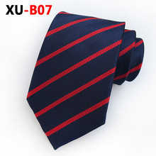 Mans Neck Tie Red Navy Blue Striped Silk Tie for Man 8cm Gingham Ties Formal Business Gravata Casual Wedding Party Tie