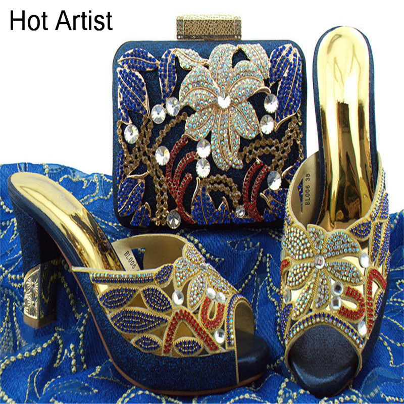 Hot Artist Hot Selling Italian Woman Elegant Fashion Shoes And Purse Set High Quality Italian Shoes With Matching Bag Set BL006 hot artist shoes and bag set african sets italian shoes with matching bags high quality women shoes and bag to match set mm1055