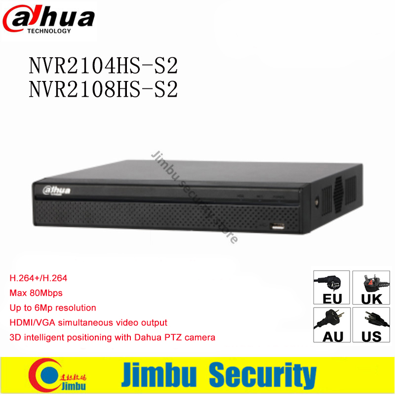 Dahua NVR Video recorder NVR2104HS S2 NVR2108HS S2 Compact 1U Lite up to 6Mp Recording Onvif