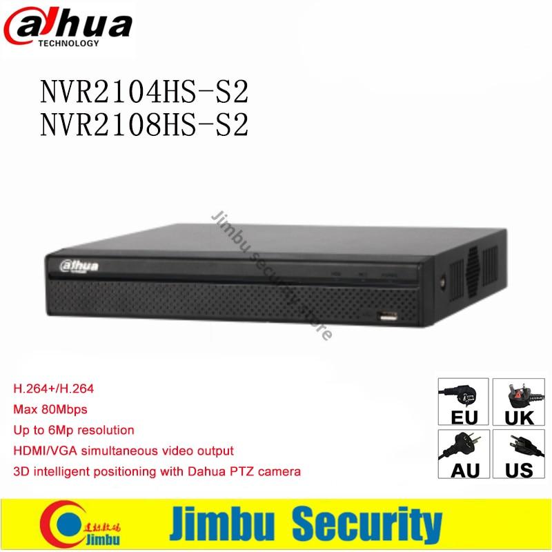 все цены на Dahua NVR Video recorder NVR2104HS-S2 & NVR2108HS-S2 Compact 1U Lite up to 6Mp Recording Onvif Max 80Mbps incoming bandwidth онлайн