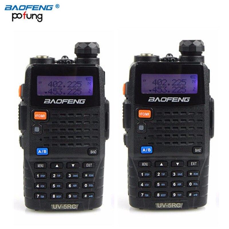 bilder für 2 stücke baofeng uv-5rc zweiwegradio dual band vhf uhf 136-174 mhz & 400-520 mhz uv5rc walkie talkie mit kopfhörer