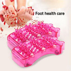 Stress Relief Dual Foot Massager Roller Relieve Plantar Fasciitis Acupressure/ Reflexology Tool Relieve Blood Circulation