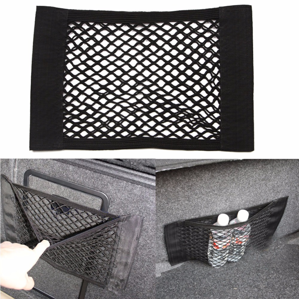 цены Car-Styling Fabric Car Back Rear Trunk Seat Elastic String Net Mesh Storage Bag Pocket Cage