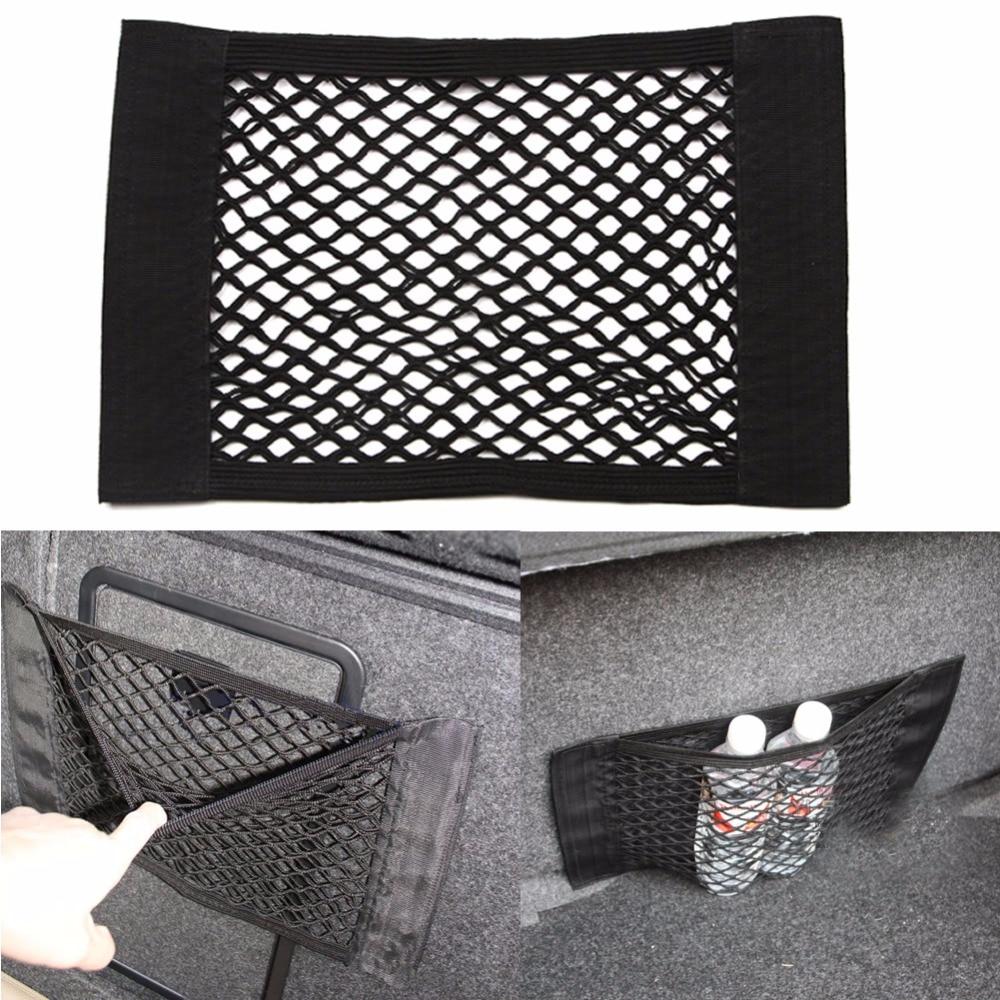 Car Styling Fabric Car Back Rear Trunk Seat Elastic String Net Mesh Storage Bag Pocket Cage