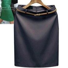 Fashion Women Solid Color Formal Skirts Mini Lady Skirt  Straight Skirt